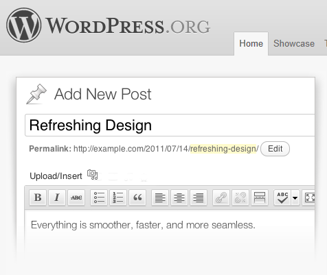 Wordpress.org for blogging