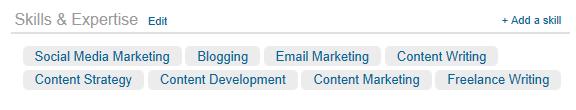 LinkedIn Skills & Experience